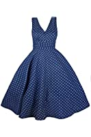 Kushi - Robe Retro Pois Année 50 Rockabilly Swing Vintage Taille 38 46