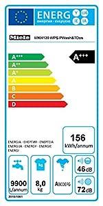Miele WKH120WPS D LW PWash&TDos Waschmaschine FL / A+++ / 156 kWh/Jahr / 9900 Liter/Jahr / 8 kg / 1600 UpM / Thermo-Schontrommel / PowerWash / lotos weiß