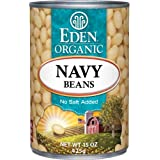 Eden Organic Navy Beans, No Salt Added, 15-Ounce Cans (Pack of 12)