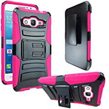 buy Galaxy Grand Prime Case, Atus® Heavy Duty Dual Layer Holster Case Kick Stand With Locking Belt Swivel Clip For Samsung Galaxy Grand Prime G530 + Ultra-Sensitive Stylus Pen