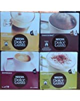 Nescafe Dolce Gusto® Lot de 4 packs de capsules de variété différentes pour machine à boissons chaudes Dolce Gusto, 64 capsules