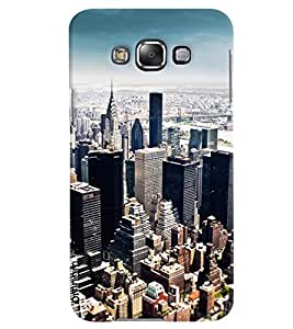 Omnam Empire State Buliding Top View Printed Designer Back Case Samsung Galaxy E7