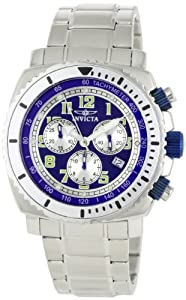 Invicta Men's 0617 Stainless-Steel Swiss Quartz Watch with Blue Dial