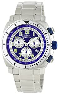 Invicta Men's 0617 II Collection Chronograph Blue Dial Stainless Steel Watch