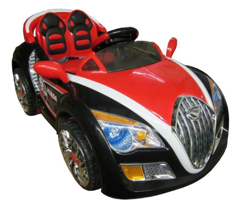 SPORTrax Bugatti Style Kid's Ride On Car, Battery Powered, Remote Control, w/FREE MP3 Player - Black
