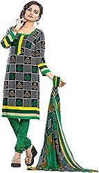 K.K BROTHERS Women's Crepe Dress Material (Black)