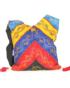 Multicoloured Zig Zag Womens Cross Body Bag  Beautiful Tote Beach & Shopper Bag  Canvas Travel Bag