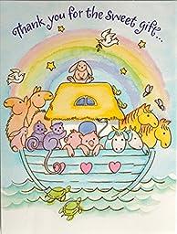 Noahs Ark Thank You Cards 8 Ct