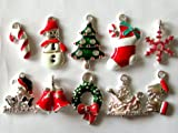 usausaのお店 サンタ・ツリー・ブーツ クリスマスのチャーム 10個セット(約17mmから27mm)