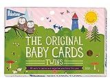 Milestone Twins Tarjetas de bebés