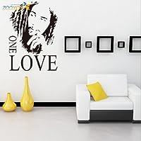 Toprate(TM) Bob Marley ONE LOVE Vinyl Wall Decal Sticker Dorm Room Music Fan by Toprate(TM)