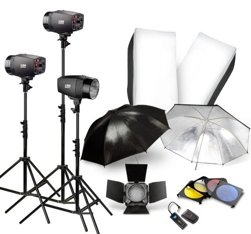 NEEWER 540W Studio Flash Lighting Kit Softbox Barndoor TRIGGER