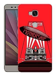 "Humor Gang Led Zeppelin - Mothership Rock Printed Designer Mobile Back Cover For ""Huawei Honor 5X"" (3D, Matte, Premium Quality Snap On Case)"