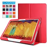 MoKo Samsung Galaxy Note 10 2014 Edition Case - Slim Folding Cover For Note 10.1 Inch 2014 Edition Tablet RED...