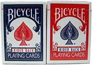 Brybelly Holdings USP-2113PD 12 Rider Back Decks Red amp Blue Reg Index Bicycle Cards