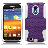 Aimo Wireless SAMD710PCPA017 Hybrid Armor Cheeze Case for Samsung Galaxy S2/Epic 4G Touch/D710 - Retail Packaging - White/Purple