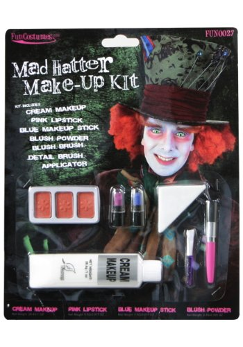 Deluxe Mad Hatter Make-Up (Standard) (Men Mad Hatter Costume)