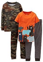 Carter\'s 4 Piece PJ Set (Toddler/Kid) - Bears-3T