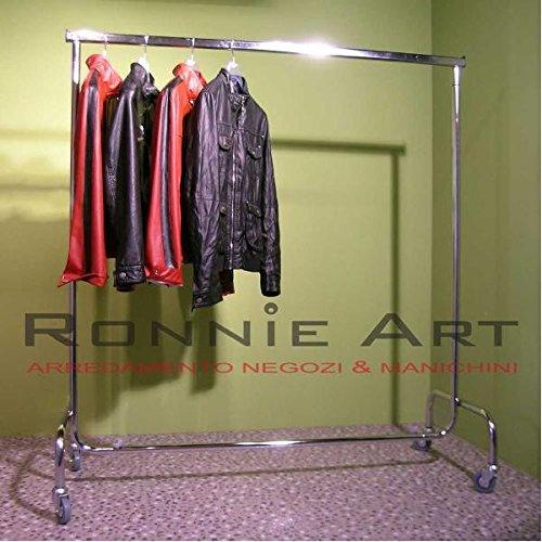 Songmics Nuovo Stand Appendiabiti Stender Attaccapanni Con Ruote Regolabile 95-172 cm LLR03W