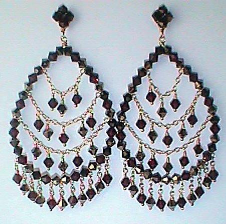 Hoop Crystal Earrings