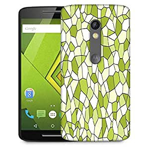 Snoogg Green Blocks Designer Protective Phone Back Case Cover For Lenovo Motorola Moto G4