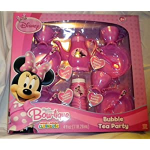 Disney Mickey Mouse Clubhouse Minnie Mouse Bow-tique Bubble Tea Party Dish Set