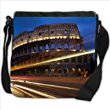 Night Roman Colosseum in Rome Italy Small Denim Shoulder Bag / Handbag