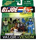 G. I. JOE Hasbro Valor Vs. Venom 3 3/4 Scale 2Pack Dr. Link Talbot & Cobra Commander