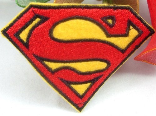 Superman 'S' Iron on Sew on Embroidered Patch Badge Applique Motif by ChewyBuy