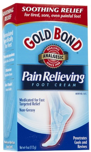 Special Pack Of 5 Gold Bond Foot Cream Pain Relf 4 Oz X 5
