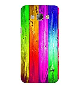 Multi Colour Wooden Pattern 3D Hard Polycarbonate Designer Back Case Cover for Samsung Galaxy A8 (2015 Old Model) :: Samsung Galaxy A8 Duos :: Samsung Galaxy A8 A800F A800Y