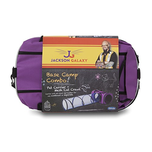 Petmate jackson galaxy base camp carrier with mesh tunnel for Jackson cat toys