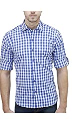 Unixx Men's Casual Shirt (UXXS-08_Blue_44)