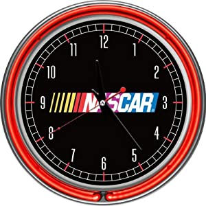 NASCAR Chrome Double Ring Neon Clock by NASCAR
