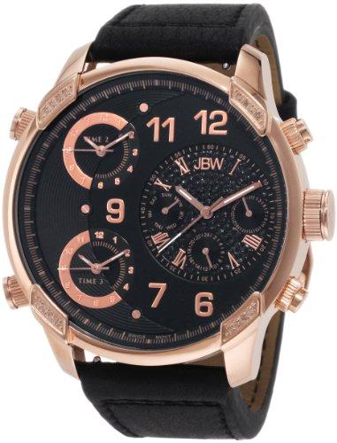 JBW-JUST BLING  J6248LG - Reloj de cuarzo para hombre, con correa de cuero, color negro