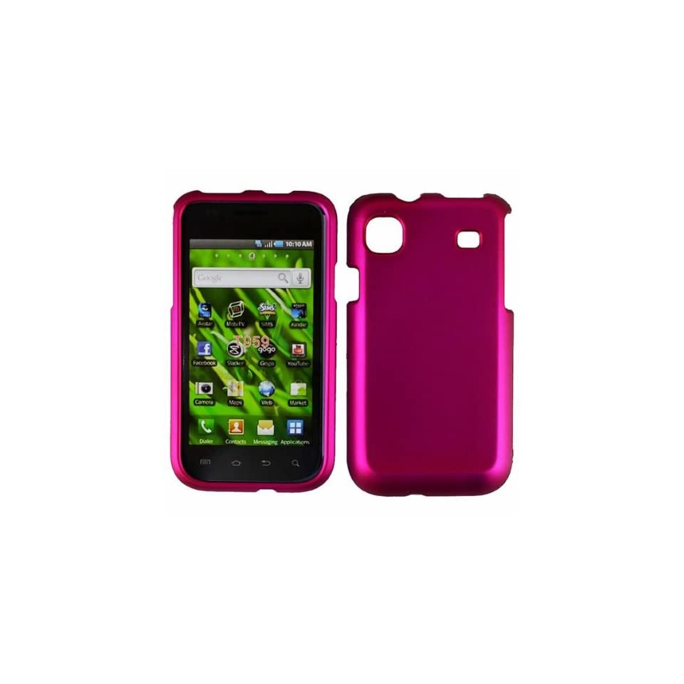 Rose Pink Hard Case Cover for Samsung Vibrant T959 Cell Phones & Accessories
