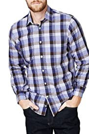 Blue Harbour Pure Cotton Grid Checked Shirt [T25-7847T-S]