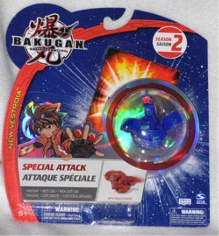 Special Attack Bakugan Blue Spin Dragonoid