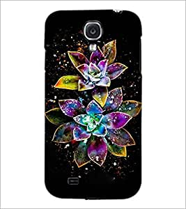 PrintDhaba Digital Flower D-4312 Back Case Cover for SAMSUNG GALAXY S4 (Multi-Coloured)