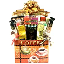 Premium Coffee and Crisp Biscotti Gourmet Gift Basket