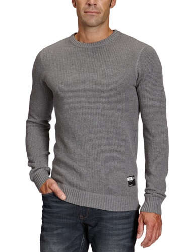 Jack and Jones Mono O-Neck Men's Jumper JJ Grey Melange X-Large