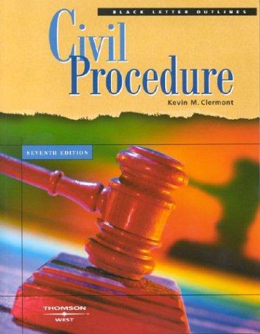Black Letter Outlines Civil Procedure