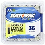 Rayovac Alkaline AA Batteries, 36-Pack with Recloseable Lid (815-36PPF)