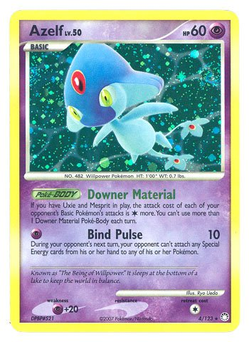 Pokemon Mysterious Treasures #4 Azelf LV.50 Holofoil Card [Toy]