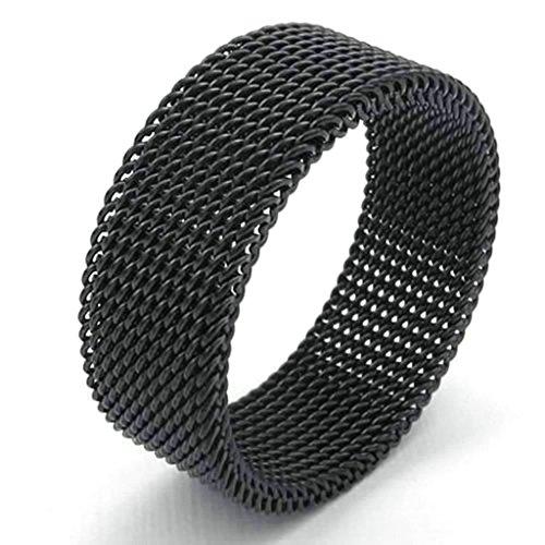 daesar-homme-bagues-acier-inoxydable-bague-de-mariage-pour-homme-maille-anneau-noir-bagues-taille54