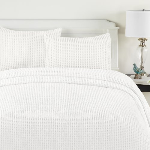 Lamont Home Honeycomb Bedspread, Twin, White front-701934
