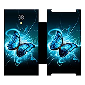 Skintice Designer Flip Cover with Vinyl wrap-around for Micromax Canvas Fire 4G , Design - Butterfly Splatter