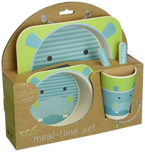 nandog-pet-gear-bamboo-fibre-hippo-kids-plate-set