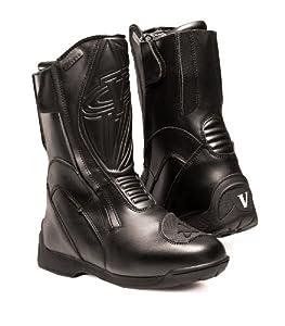 Vega Touring Women's Motorcycle Boots (Black, Size 7)