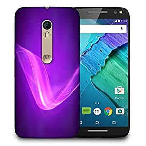 Snoogg Design Purple Wave Printed Protective Phone Back Case Cover For Motorola X Style